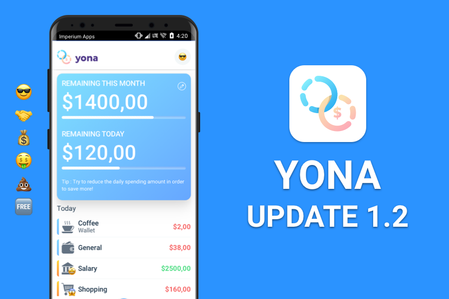 Yona – Finances For Couples I App Update 1.2