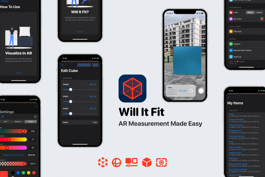 Will It Fit – AR Measurement Releases Today On The App Store